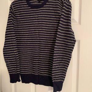 J Crew navy striped sweater